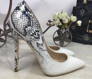 moda donna estate sandali tacchi chuncky med ritaglio sandali con i tacchi alti cinghie croce serpente Roma per le donne in pelle pantofola