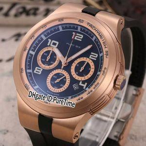 Nuevo P253.794 Edición limitada Pd Design Sport Racing Car Dive Relojes Rose Gold Black Dial Cuarzo Cronógrafo Reloj para hombre Cronómetro de goma p46