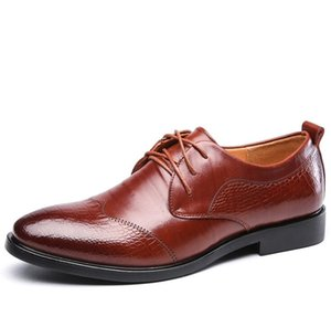 New Men Shoes Spring Summer Formal Genuine Leather Business Casual Shoes Men Dress Office Luxury Shoes Male Breathable Oxfords