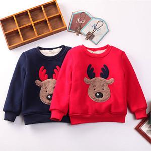 Pudcoco 2017 Kış Sıcak Noel Hoodies Toddler Çocuk Erkek Kız Giysileri Baskı Geyik Top Sweatshirt Çocuklar için Kıyafet