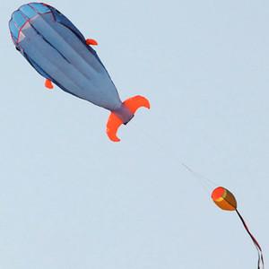 Enorme 3D Parafoil Dolphin Kite Niños Diversión al aire libre Deporte Plaza Juguete volador Playa Cute Dolphin Kite Fácil de volar 200x73cm