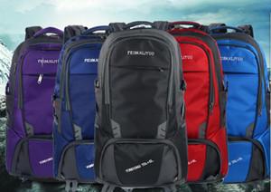 2018 حقيبة الكتف، والذكور كبيرة سعة 80 لترا، في الهواء الطلق حقيبة تسلق الجبال حقيبة سفر، نساء المحمولة ممارسة ماء متعدد الوظائف