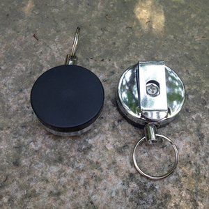 Anti-lost Burglar Keychain Keyring - EDC Outdoor Steel Rope Tactical Retractable Key Chain Camping Key Ring Holder