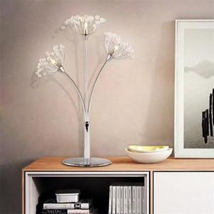 Простая лампа современного кристалла стол роскошного свет творческая спальня ночники брак свадьба украшение помещение настольная лампа