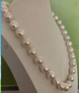 "Best Buy Gioielli Perle splendida 13-14mm south sea white pearl necklace 20 """