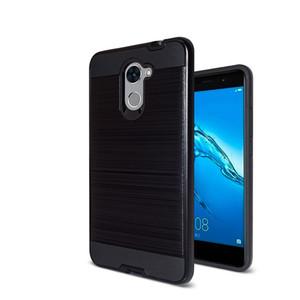 Fırçalanmış Defans Durumda Huawei P9 Lite mini G elite artı Y6 Pro 2017 Y7 Y7 Başbakan 7 Artı Zevk Zırh Sağlam Darbeye Sert PC + TPU