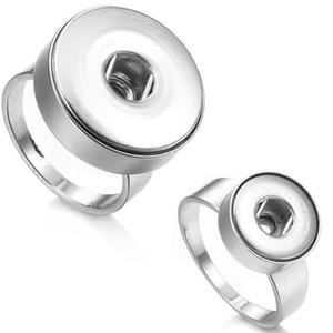 Mode NOOSA Chunk Stainlesss Stahl 12mm 18mm Druckknopf Ring DIY Noosa Ginger Snaps Austauschbare Schmuck Für Frauen
