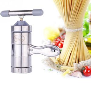Neue Edelstahl Nudelhersteller Mit 5 Modelle Manuelle Nudeln Presse Pasta Maschine Küchenwerkzeuge Gemüse Obst Entsafter Stahl