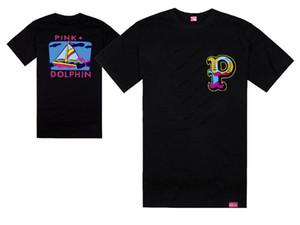 Populaire t-shirt rose de dauphin hommes sport manches courtes imprimé t-shirt hip hop hommes vêtements t-shirt streetwear tees shirts
