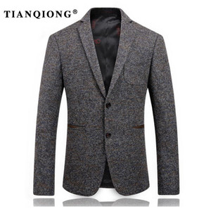 TIAN QIONG 2017 Casual Hommes Blazer business Slim fit Costume Homme Costume Blazer Masculino Costumes Veste hombres ocasionales
