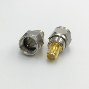 Brass F TV Plug Male to SMA Female Jack Screw thread RF Antenna Auto Radio 50ohm Coaxial Connector