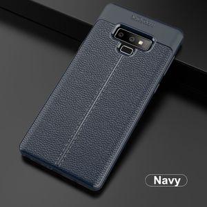 2018 Moda de lujo con cubierta completa Funda de teléfono de TPU suave, textura de cuero Funda de teléfono Cubierta para Samsung Note 9 S8 S9 Plus S7 Edge