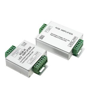 Edison2011 LED RGBW / RGB 증폭기 DC12-24V 24A 4 채널 출력 RGBW / RGB LED 스트립 전력 리피터 콘솔 컨트롤러