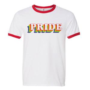 Hillbilly Pride Rainbow Ringer Shirt gay pride rainbow lgbt bandiera gay camicia regalo T-shirt donna