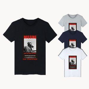 BTS Bangtan Boys Fan Club Kurzarm T-Shirt Schriftzug und Charakter Print Größen 2XS-4XL Large Size Tops Kleidung