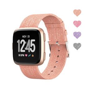 Venta al por mayor Accesorios inteligentes Fitbit Versa Band para mujeres, hombres, moda, tejido, correa de muñeca, banda de reloj de liberación rápida para Versa