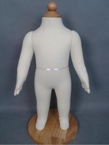 Comercio al por mayor Nuevo 53 cm apoyos de software de modelado del bebé, modelo de cuerpo entero de los niños de algodón blanco realista maniquí de costura decorativa puede pin C408