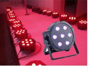 1 pz Cina dj par slim led par 7x12 W RGBW 4IN1 dmx led par luce rgbw No Noise