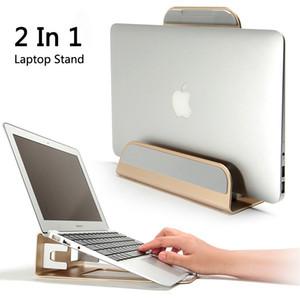 Support vertical en alliage d'aluminium 2 en 1 fonction / support pour ordinateur portable ergonomique refroidissant pour Macbook Air Pro Retina 11-15 pouces