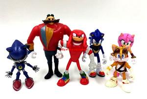 6 шт / комплект японский аниме рисунок Sonic The Hedgehog фигурку коллекционные модели игрушки для детей Аксессуары для телефонов