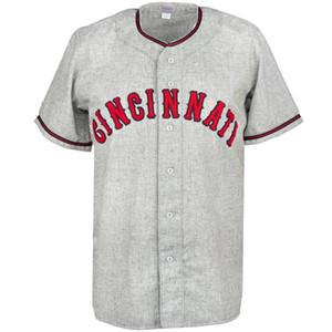 Cincinnati 1937 Road Jersey 100% cucito ricamo logos maglie da baseball vintage personalizzato qualsiasi nome qualsiasi numero spedizione gratuita