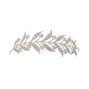 Chapeaux de couronne de mariée en or et en argent avec insertions de diamants Insertion de couronne de couronne coréenne, modélisation en alliage de mariage, support en épingle à cheveux en gros