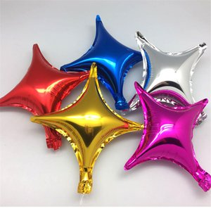10inch Four-pointed Star Foil Balloons for Kids 50pcs lot Wedding Event Decoration Stars Balloon Birthday Party Supplies
