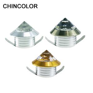 CHINCOLOR Mini Spot Light Crystal Diamond Cabinet Downlights LED Lámpara de techo 110V 220V Jewelry Display Room Decor Blanco cálido R