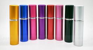 Vente chaude 5 ml Mini Portable Rechargeable Parfum En Aluminium Atomiseur Spray Bottle Traveler Bouteilles Vides Pour Les Cosmétiques