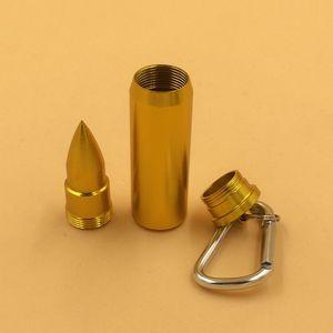 2 unids Bullet Ashtray Creative Portable Durable Cigarrillos de viaje para el hogar Accesorios para fumar Llavero ceniceros portátiles