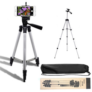 3110A Aluminum alloy tripod Protable Camera cell phone clip Video Camcorder Selfie stick for iphone Samsung Nikon Sony Camra DV