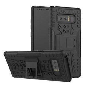 Tire Pattern Durable Armor Phone Case For Samsung Galaxy s8 s9 Note 4 5 8 9 plus Hybrid Rugged PC+TPU Kickstand Shockproof Cover