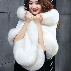 2019 New Warm Faux Fox Fur Bridal Shawl Fur Wraps Marriage Shrug Bride Winter Wedding Party Boleros Black White Blush Factory Sale