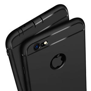 Funda de silicona ultra delgada para iphone 7 6 6 s 8 X cubierta Coque Candy Colors Negro Shell Soft TPU Mate Funda para teléfono para iphone7 8 plus