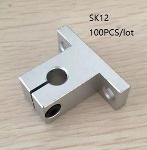 100 pz / lotto SK12 SH12A 12mm supporto per binario lineare guida lineare albero cuscinetto lineare asta di guida supporto per router cnc parti della stampante 3d