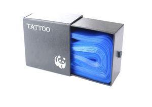 100pcs plastique bleu clip de tatouage manchons de cordon couvertures sacs approvisionnement nouveau hot professionnel accessoire de tatouage accessoire de tatouage gadgets