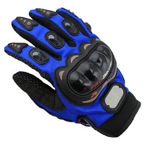 الرياضة في الهواء الطلق كامل الإصبع فارس ركوب الدراجات النارية قفازات 3D تنفس شبكة نسيج الرجال الجلود قاطرة قفاز