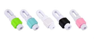 Mini portátil bonito silicone digital protetor de cabo do fone de ouvido mangas protetoras cabo winder 1000 pçs / lote