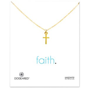 Dogeared Cross Choker Necklaces With Card Gold Silver Cross Pendant Necklace For Fashion Women Jewelry FAITH Good Gift