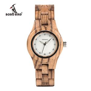 BOBO BIRD Women Wooden Watches Senhoras assistir Top Brand Zebra Wood Quartz Wristwatch Timepiece O29 Accept Drop shipping