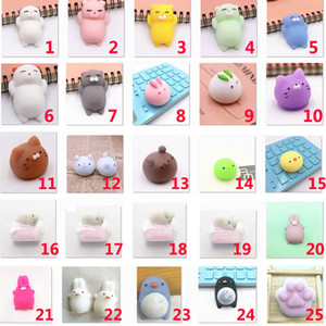 Mini Anti-Stree Squishy Squeeze Animaux Fun Toys Novice Reliever Home Decor Décompression Jouets XMAS Cadeaux 60 Styles WX9-581