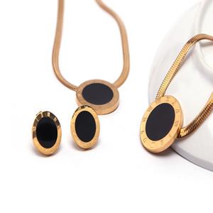 Ожерелье ювелирные изделия высокого качества римские цифры браслет из нержавеющей стали Stud Набор для женщин Подарок Бесплатная доставка