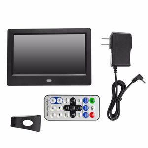 7 inç Dijital Fotoğraf Çerçevesi HD LED TFT ekran Çalar Saat MP3 / 4 Movie Player