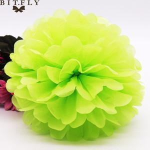 Eco-Friendly 40pcs 20cm (8 « ) Pom Pom Pom Poms Papier de soie artificielle Balles de fleurs de mariage Décoration Party Boules de papier déco