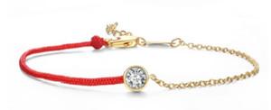 Único diamante pulseira de corda vermelha cão ano do ano do ano da mão da moda coreana mão da mão cross-bord