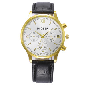 OTOKY Unisex Watches Retro Design Leather Band Analog Alloy Quartz Wrist Watch Quartz Wristwatches Business Gift NI12