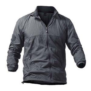 Мужчины Спорт На Открытом Воздухе Quick Dry Пешие Прогулки Кемпинг Куртка Водонепроницаемый SunUV Защиты Пальто Куртки Кожи Лето Дождь Тонкие Куртки