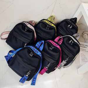 New Pattern Summer Hit Colour Ribbon Both Shoulders Pacchetto Tempo libero Zaino Donna Pacchetto Campus Student A Bag
