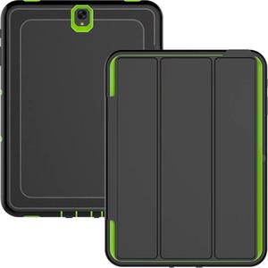 Defender Vaka Samsung Galaxy Tab Için E T560 T580 S3 T820 T825 T710 Darbeye Robot Durumda Askeri Aşırı Ağır Silikon Kapak Cilt
