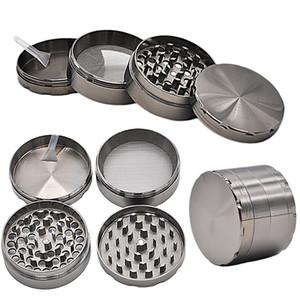 Metall Tobacco Smoke Herb Grinder 58 * 43mm 4 schicht Luxus Pfeife Detektor Schleifmaschine Filter Zubehör WX9-813